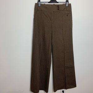 BCBGMAXAZRIA linen wide leg striped pants